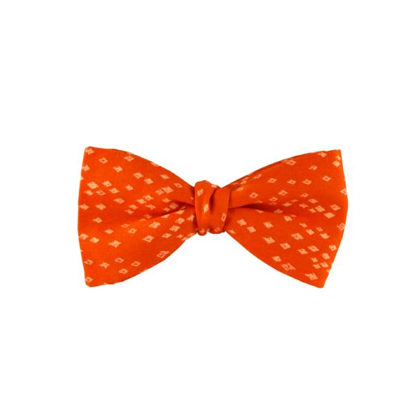 noeud papillon orange liberty à nouer