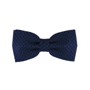 Noeud papillon bleu nuit pour homme cousu-noué de forme pointue, modèle Papi, coloris