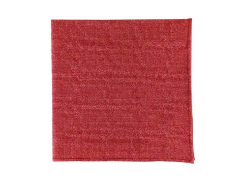 Pochette de veste rouge uni, modèle Esteban. Rouge brique