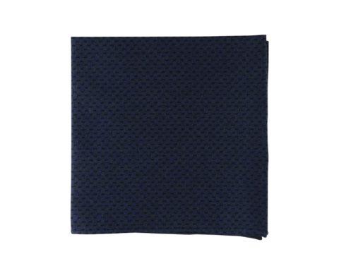 Pochette de veste bleu-nuit, modèle Papi, bleu marine et motif noir