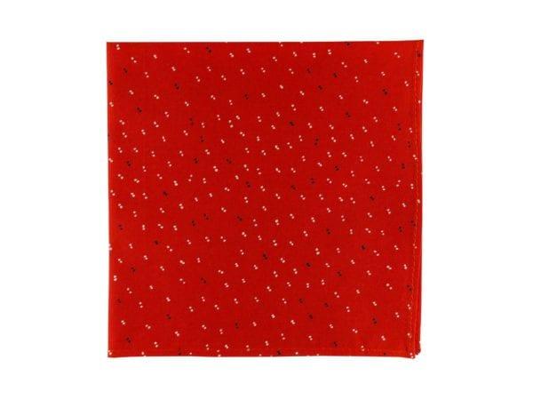 Pochette de veste rouge, modèle Vitorio. Rouge mandarine