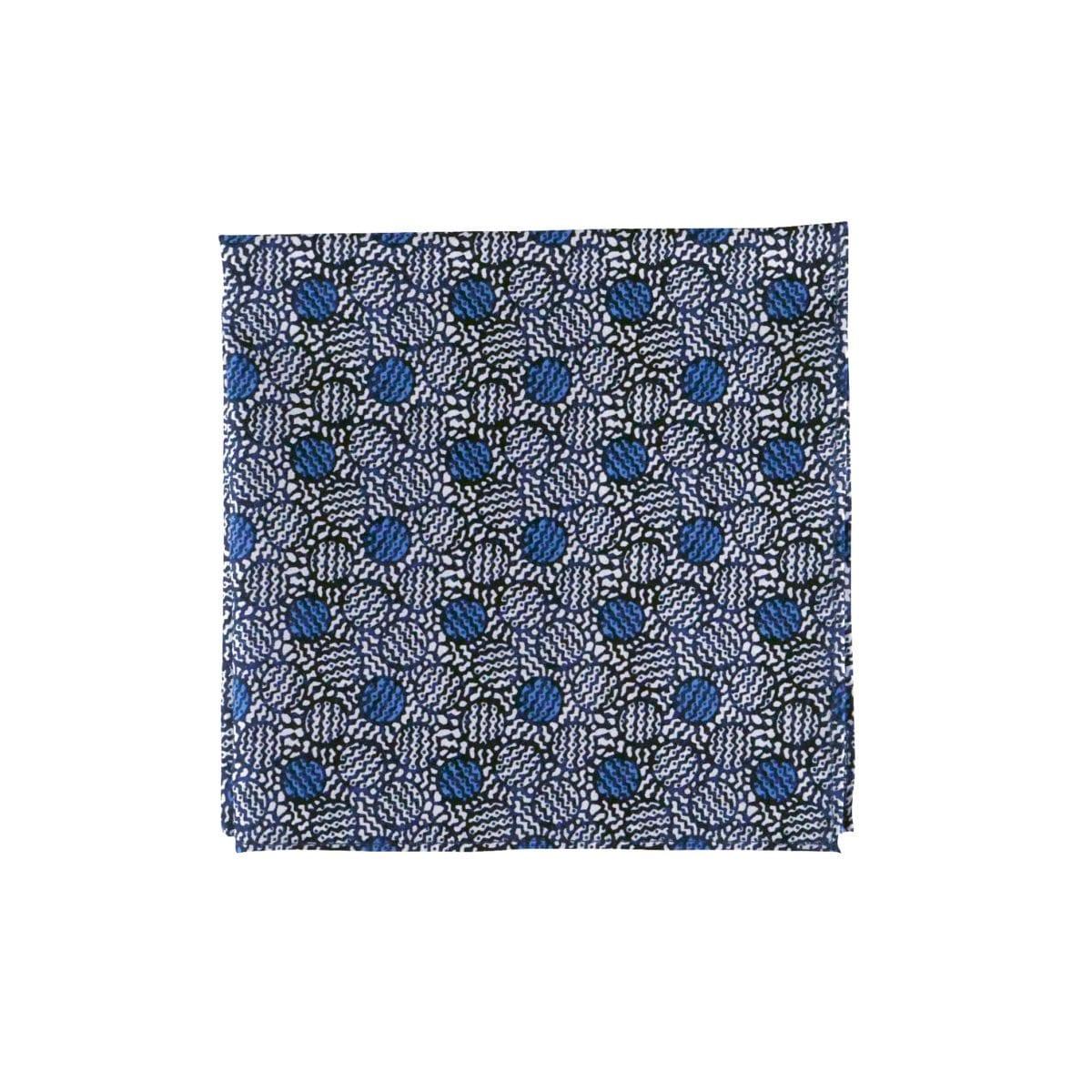 pochette de veste bleue à ronds