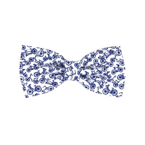 noeud papillon à vélos bleus, petits motifs