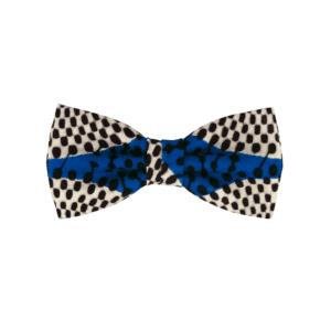 noeud papillon bleu à motif africain tendance