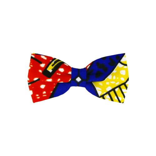 noeud papillon ethnique africian et coloré, de forme classique, cousu-noué