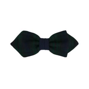 noeud papillon écossais vert et bleu fin