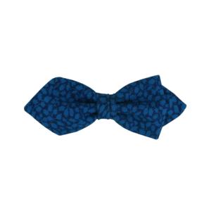 noeud papillon bleu en laine Liberty de forme pointue