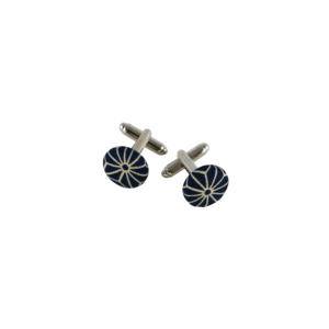 boutons de manchette bleu marine