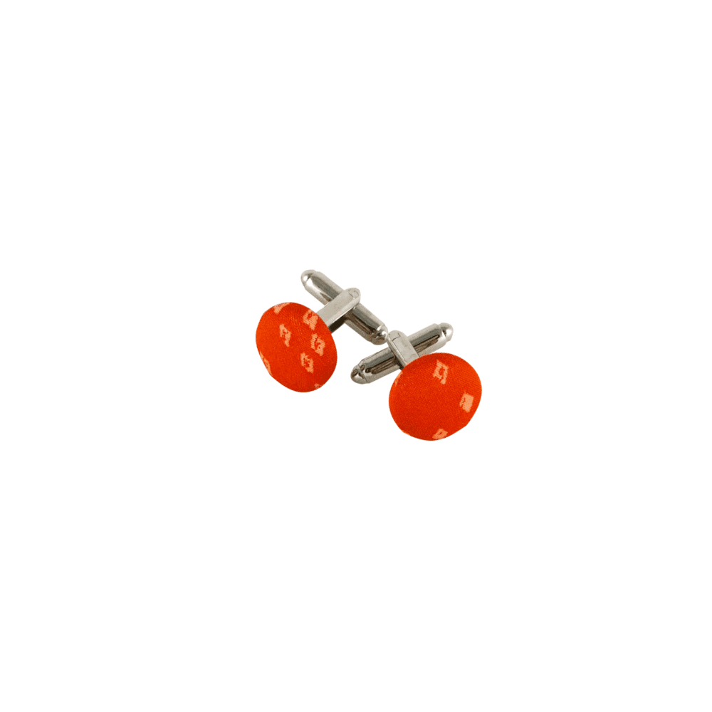 boutons de manchette orange liberty