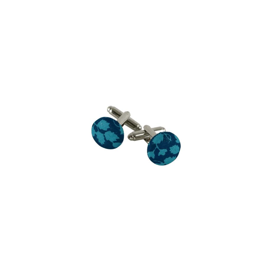 boutons de manchette turquoise Liberty