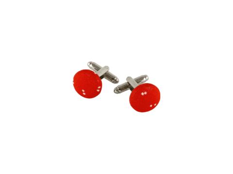 boutons de manchette rouge