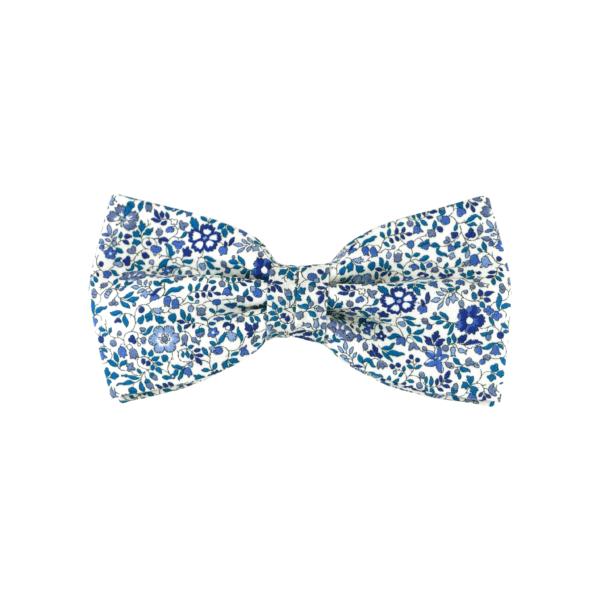 noeud papillon Liberty bleu, forme classique