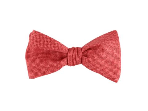 noeud papillon rouge texturé coloris rouge brique, choix de nouage et de forme, ici A NOUER
