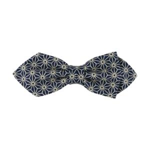 noeud papillon bleu à étoiles de forme pointue
