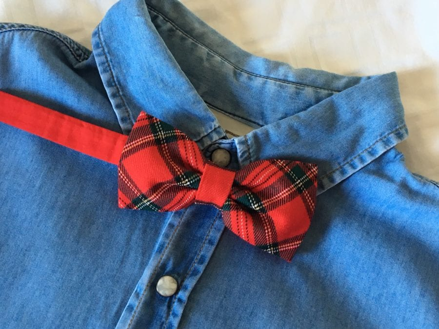 noeud papillon original tartan rouge